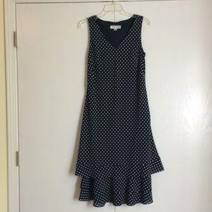 Polka Dot Drop Waist Dress